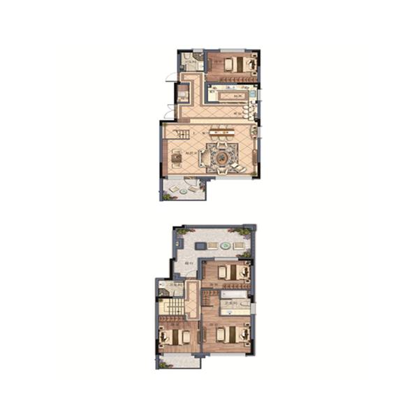 金地樾檀山4室2厅3卫建筑面积约为150㎡