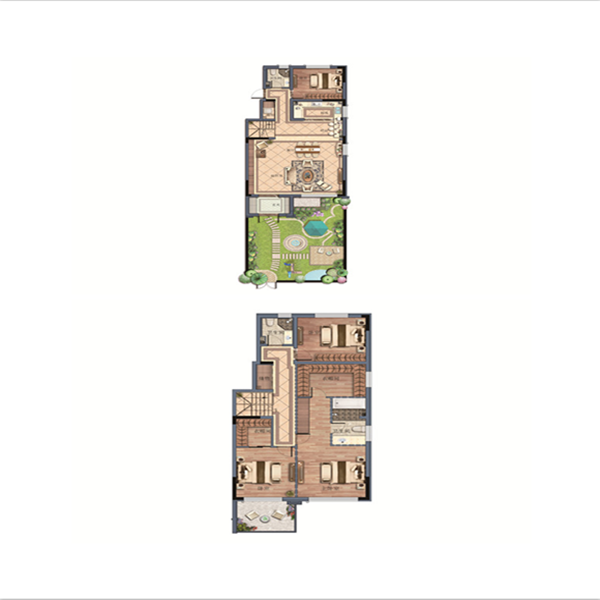金地樾檀山4室2厅3卫建筑面积约为180㎡