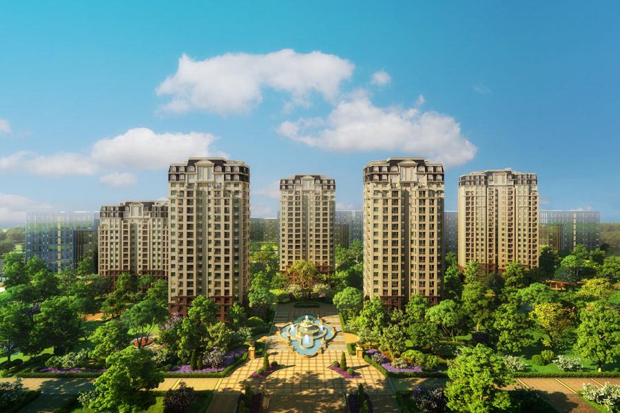 东亚·翰林世家园区中央景观效果图