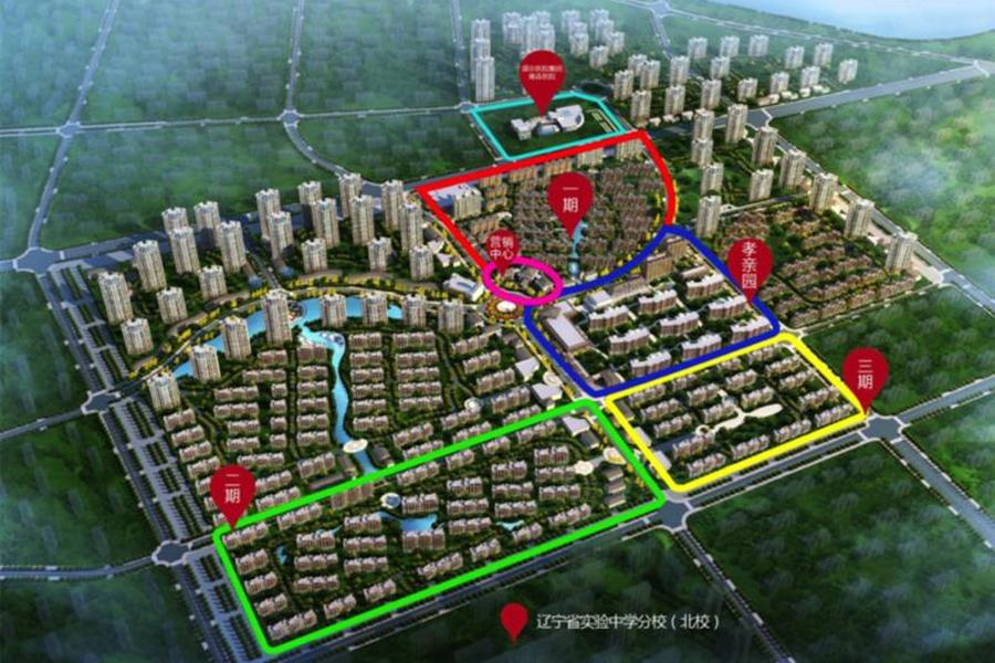 五彩阳光城项目落位图