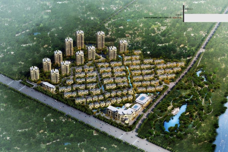 富禹·依云温泉小镇鸟瞰图