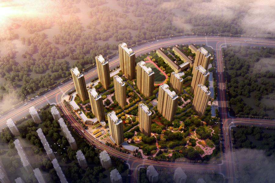 泰盈十里锦城四期产品鸟瞰图