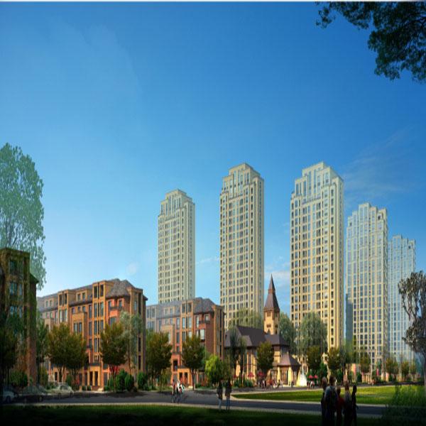 碧桂园·大城印象园区主景效果图