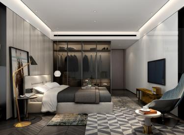 华润·二十四城130平洋房卧室样板间